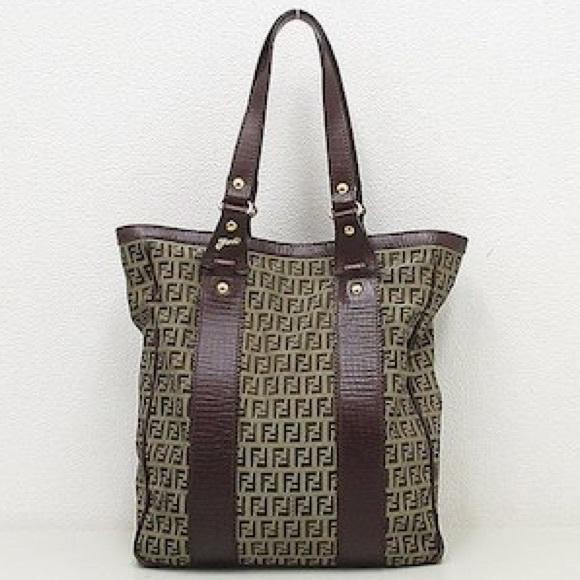3c55e23e882 Fendi Bags | Auth Zucchino Tote Bag Purse 8bh162 Brown | Poshmark